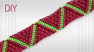 Rag Rug Friendship Bracelet How To Make A Macrame Zigzag Surf Bracelet Diy Macramé