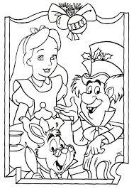 free printable alice wonderland coloring pages kids