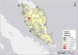 Population Density Map Of Canada by Spatial Patterns Of Health Clinic In Malaysia