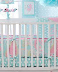 Pink And Aqua Crib Bedding Pixie Baby Aqua Crib Bedding