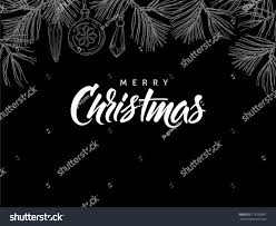 merry christmas modern merry christmas postcard modern calligraphy hand stock vector