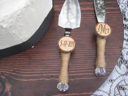 wedding cake knives and servers personalised rustic wedding cake knife and server set personalized decor
