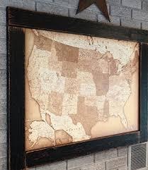 map usa framed push pin travel map usa map framed push pin map