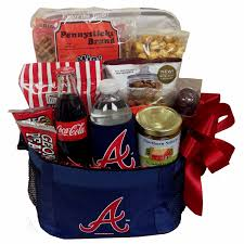 baseball gift basket braves gift basket