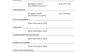 Free Fill In The Blank Resume Templates Free Fill Blank Resume Samples Reasonschecks Ga