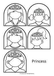 prince and princess stick puppet templates by suzanne welch
