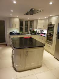 kitchen central island in frame painted timber kitchen in bury st edmunds newrooms