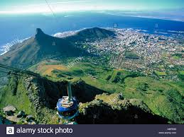 Table Top Mountain by Cable Car To Table Top Mountain Cape Town South Africa Stock