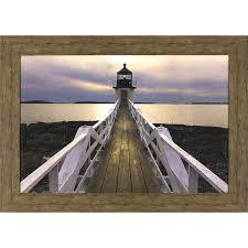 shop wall art at lowes com 43 5 in w x 31 5 in h framed coastal print wall art