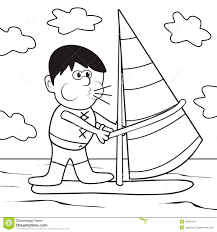 windsurfing coloring book stock images image 32059754