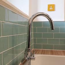 aqua marine turquoise glass metro tiles turquoise kitchen metro