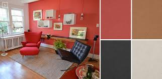 black tiles with red wall paint home decor loversiq amusing fancy
