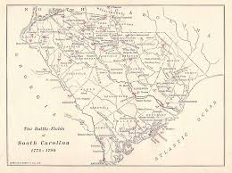 map of sc sc battle 1775 1780