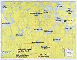 map f f 16 loon lake lac la croix lake moose lake fisher maps