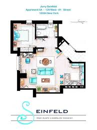 tv floorplans how the apartments in your favourite shows are tv floor plans seinfeld