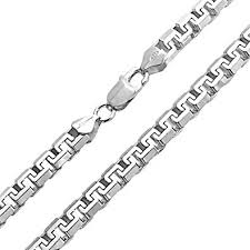 mens chain necklace silver images Mens sterling silver square link chain necklace 20 inches jpg