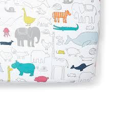 Noah S Ark Crib Bedding Petit Pehr Crib Sheet Noah S Ark