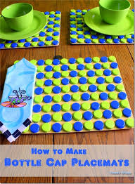 condo blues how to make clever bottle cap placemats