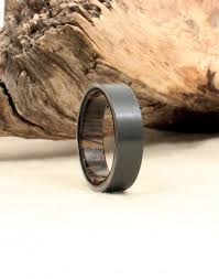 bog the wedding band black zirconium and ancient russian bog oak wooden ring