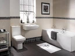 bathroom flooring simple white subway wall tiles and black floor
