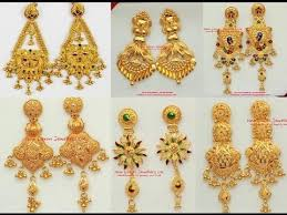 earrings in gold fashionable dangle earrings models in gold