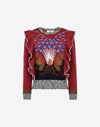 valentino mouliné embroidered sweater knit tops for women