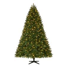 christmas tree with lights home accents 7 5 ft set pre lit led nevada