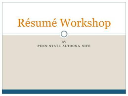Penn State Resume Resume U0026 Cover Letter Writing Ppt Download