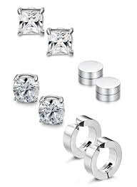magnetic stud earrings jstyle 4 pairs stainless steel stud earrings for men