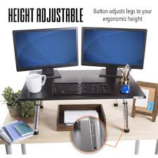 executive stand steady series standing desk converter stand only