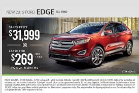 ford lease hiller ford 2015 milwaukee ford edge special sale and lease
