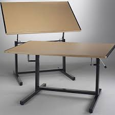 Drafting Table Mayline Mayline Dual Adjustment Drafting Table