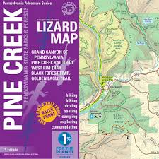 Map Of Grand Canyon Pine Creek Lizard Map Grand Canyon Of Pa Trail Map Purple