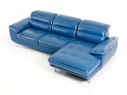Navy Blue Leather Sofa Living Room Blue Leather Sofa Beautiful Divani Casa Hobart Modern