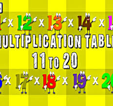 11 Multiplication Table Multiplication Tables 11 To 20 Multiplication Songs For Children