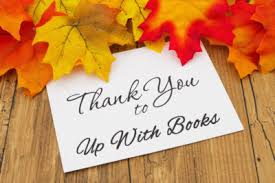thank you up with books open table