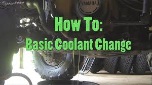 how to basic maintenance coolant change youtube