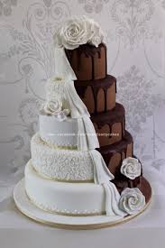 chocolate wedding cakes chocolate wedding cake half and half cake by zoe s
