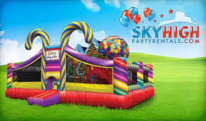 bounce house rentals houston candyland toddler playland sky high party rentals