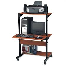 Small Computer Desk Ideas Desk Small Computer Table On Wheels Office Chair Regarding