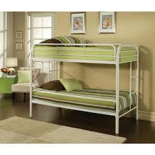 Acme Furniture Thomas Twin Over Twin Metal Kids Bunk BedWH - Kids bunk beds furniture