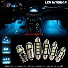 8x ice blue car interior led light bulb package for 05 11 benz