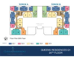 H2o Residences Floor Plan by Queens Residences Mega Realty Penang