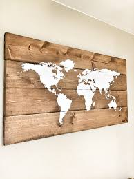 rustic wood world map rustic decor farmhouse decor rustic