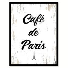 cafe de paris coffee wine saying quote typography gift ideas home