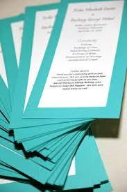 Word Template For Wedding Program Tiffany Blue Heart Typography Wedding Program Microsoft Word