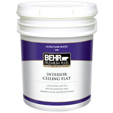 Washable Ceiling Paint by Behr Premium Plus 2 Gal Smooth Finish Flat Interior Texture Paint