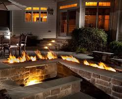Fireplace Burner Pan by Trough Style Linear Gas Fire Pit 96 Inch Fine U0027s Gas