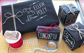 chalkboard wrapping paper how to gift wrap using chalk markers