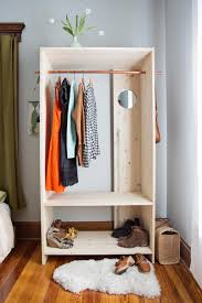 Basic Wood Shelf Designs by Modern Wooden Wardrobe Diy A Beautiful Mess Wooden Wardrobe